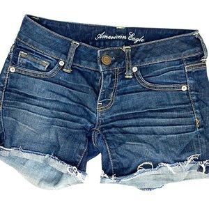 American eagle jean shorts cut of denim